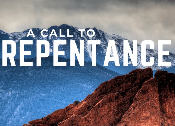 Strong and Courageous: A Call to Repentance